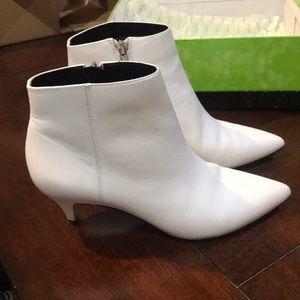 Sam Edelman Kinzey white leather boots
